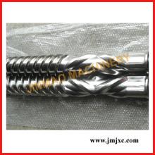 Bimetallische Doppelrotorschnecke für Kunststoffmaschinen