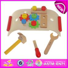 Holz Pretend Play Tool für Kinder, DIY Holzspielzeug Werkzeug Spielzeug für Kinder, heißer Verkauf neue Design Gartengeräte Spielzeug W03D038