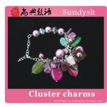 Senhora casamento artesanal victoria fantasia handmade frisado moda charme história mutável link pulseira de jóias