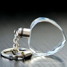 Llavero llevado en blanco en forma de corazón promocional barato promocional del fabricante de China con la linterna
