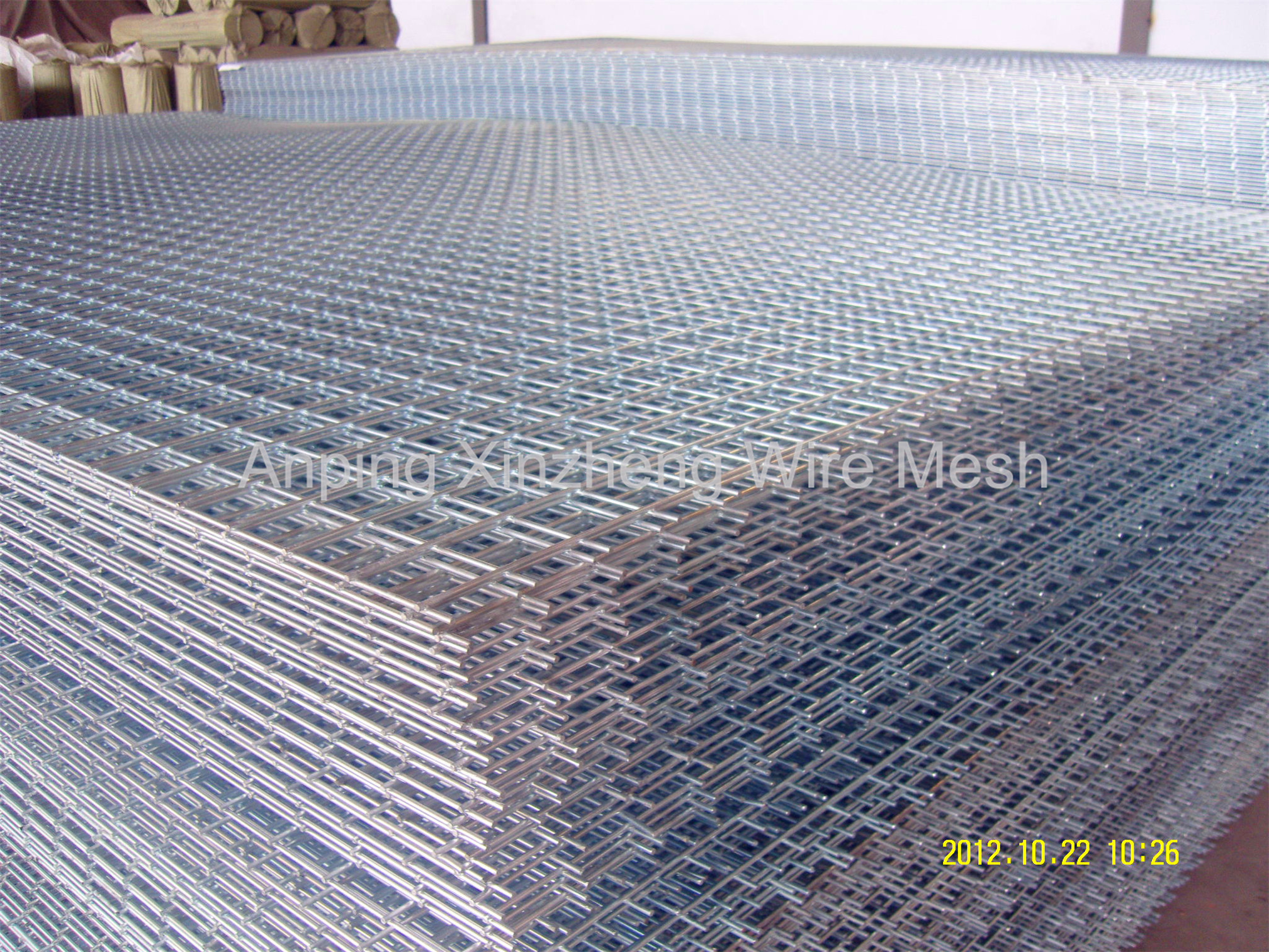 Galvanised Mesh Panels