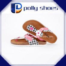 New Women Summer Buckle Flip Flop Wedge Heel Platform Shoe