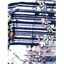 Algodón modelo 50/50 tejido estampado floral jersey