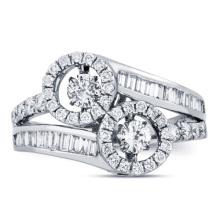 Anéis De Prata De Prata 925 Jóias Dancing Diamond CZ