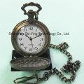 Relógio de bolso analógico de quartzo com movimento japonês personalizado com trem