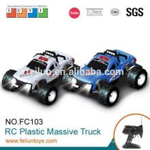4 canales 1:10 escala digital eléctrico 4WD off road plástico rc camión con luces para la venta