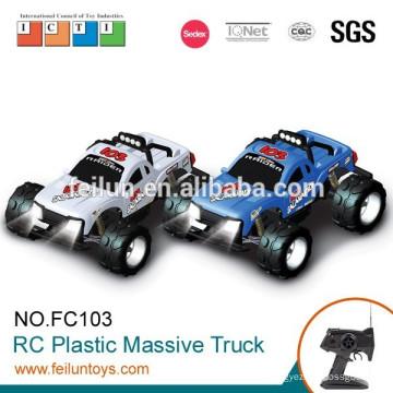 4 canales 1:10 escala 4WD eléctrico digital de camiones por carretera de plástico modelo rc con luces