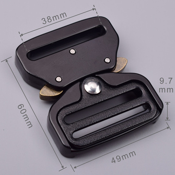 38mm Heavy Duty 300KG Steel Tactical Military Black Electrophoresis Cobra Belt Buckle For Military