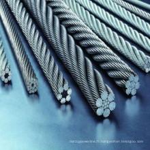 Câble en acier galvanisé / zingué