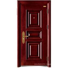 Red Walnut Colour Panel Design Steel Security Door