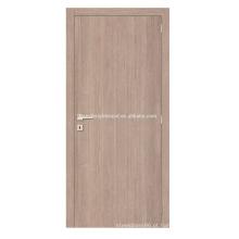 Porta de madeira da placa simples da melamina do estilo do projeto da casa da cor clara