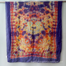 Silk Tie Dye Scarf Shawl Big Size Sex Girl for Women Muffler