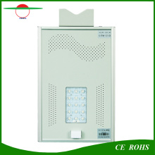 Ce, RoHS, IP65 Certified High Bright Street Lamps All in One Bridgelux Solar LED Street Light 15W with Motion Sensor