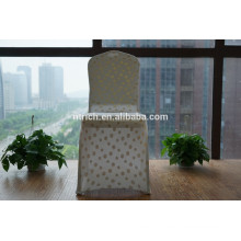 Beartiful golden patterns lycra chair cover for banquet