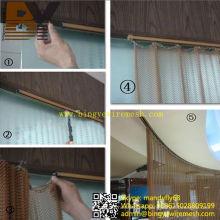 Séparation de diviseur d'espace commercial décoratif en métal