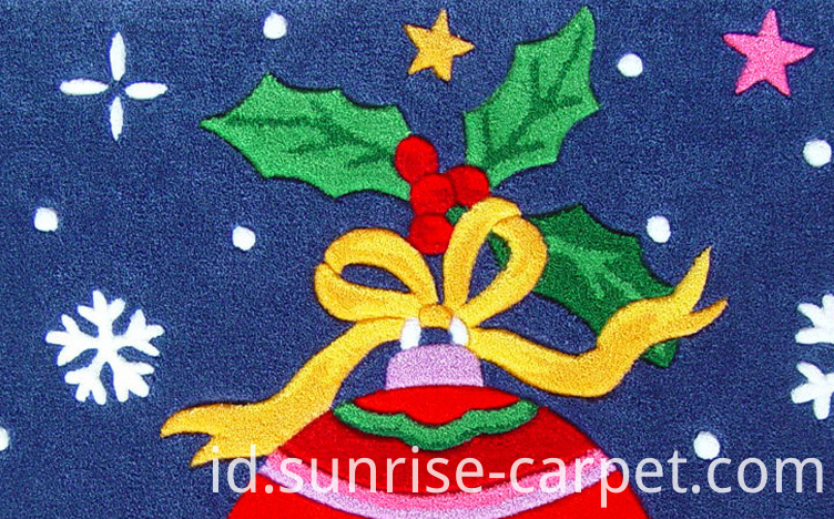 Hand Tufted Carpet with Chrismas Design