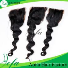 Extensión de calidad superior del pelo humano de Remy del pelo de la onda del cuerpo del closing del cordón