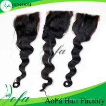 Top Quality Lace Closure Body Wave Hair Remy Human Hair Extension