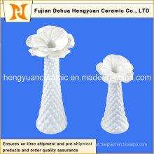Mesa artigos de mobiliário de vaso com branco esmalte