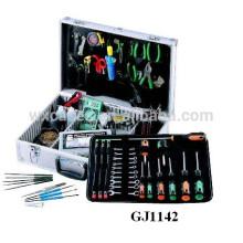 Caja de herramienta de aluminio fuerte y portátil con plataforma plegable herramienta y compartimientos ajustables dentro de