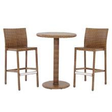 Set de Bar de Patio al aire libre muebles de jardín de mimbre de la rota de la resina