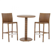 Resin Rattan Wicker Garden Outdoor Furniture Patio Bar Set
