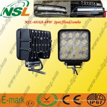 12V 24V 48W LED Luz de trabajo Lámpara 4x4 Off-Road Tractor LED Luz de barco