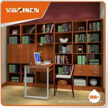 Voll ausgestattete Bücherregal mit Studie Tisch Set Design