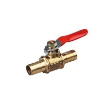 Válvula de bola de latón con componente neumático