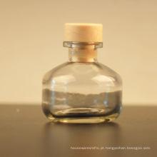 Frasco de vidro redondo do difusor 100ml com tampa da cortiça