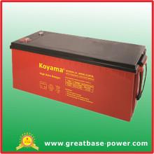 Batería de plomo ácido de alta velocidad estándar japonesa 255ah 12V