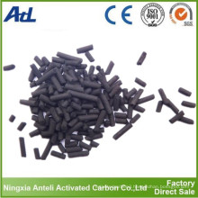 pellet activated charcoal adsorption of benzene