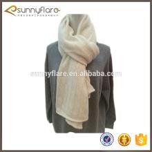 Nuevo patrón de la bufanda de la cachemira del knit del blanco del diseño de la moda 2017 para el invierno