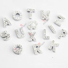 Großhandels8mm weiße Farben-Dia-Buchstaben für DIY Schmucksachen