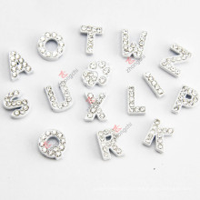 Vente en gros 8mm White Color Slide Letters for DIY Jewellery