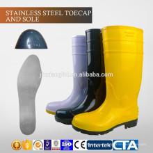 JX-AL965 CE Китай стальной toecap с пластиной ПВХ дешевые сапоги дождя и защитную обувь