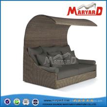 Открытый Патио Ротанг Диван-Кровать Кушетка