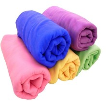100%polyester Microfiber Customized Coral Fleece Towels
