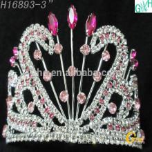Ovely beauté de la couronne du diamant de beauté Longue tête de la mode