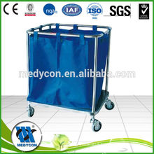 BDT210 Stainless steel metal laundry cart with wheels