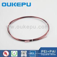 levando o tamanho de grossistas China fabricante 1.0-8.0 mm cobre esmaltado fio quadrado