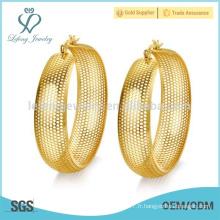 Design unique de boucles d'oreilles, boucle d'oreille fantaisie, boucle d'oreille en or