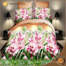 Japão conjunto de cama de algodão, flor cama cama impresso