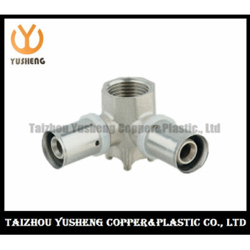 Female Forged Brass and Stainless Steel Press Pipe Fittings (YS3211)