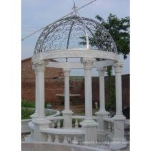 jardín decoración mármol piedra natural mármol blanco jardín al aire libre gazebo