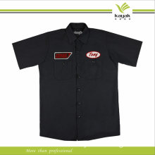 Black Custom Design Men Cotton Work Shirt Uniform (F125)