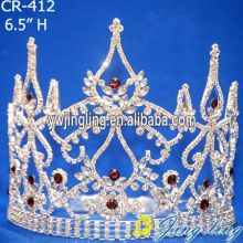 Strass rojo Beauty Pageant coronas