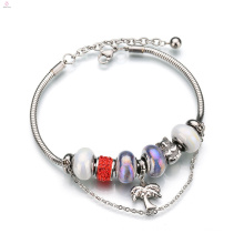 Women New Personality Diy Accessory Custom Stainless Steel Charm Bracelet