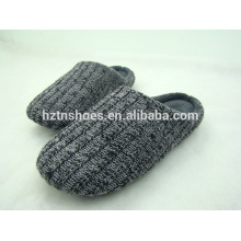 New men winter knitted slippers closed toe cashmere indoor slipper