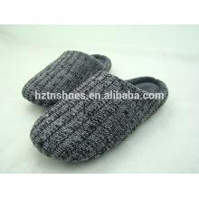 Novos homens de inverno tricotados chinelos fechados dedo do pé de cashmere chinelo